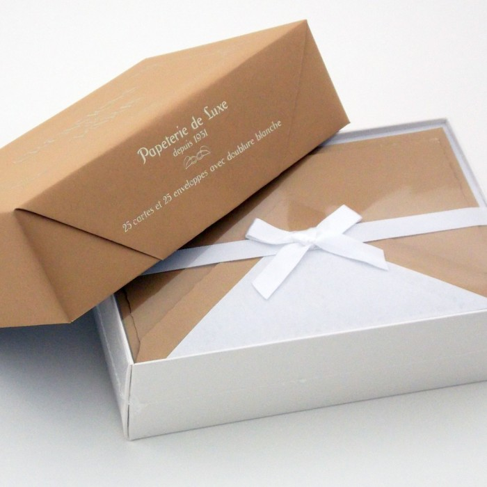 Flat Deckled Edge Cards and Lined Envelopes Nut - CDP 003