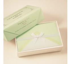 Flat Deckled Edge Cards and Lined Envelopes Pistachio - CDP 004