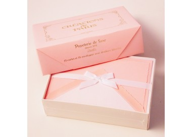 Flat Deckled Edge Cards and Lined Envelopes Candy Pink - CDP 007