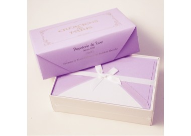 Flat Cards and Lined Envelopes Lavender - CDP 008