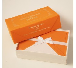 Flat Deckled Edge Cards and Lined Envelopes Orange - CDP 014