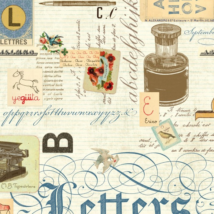 Decorative Paper Lettres - CRT 088