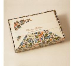 Flat Cards and Lined envelopes Birds Florentine Style - FZB 003