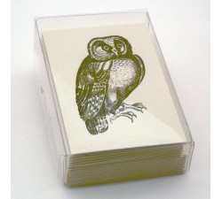 Double Cards and Envelopes Eco-friendly Owl - LPR S01B
