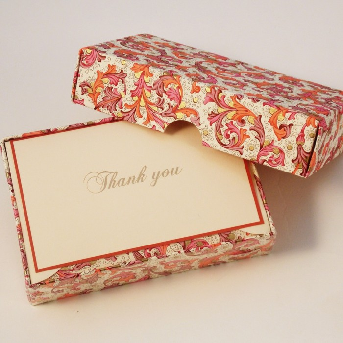 Folded Thank You Cards and Lined Envelopes Florentine - BSC 027T