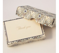 Folded Thank You Cards and Lined Envelopes Peacock - BSC 091T