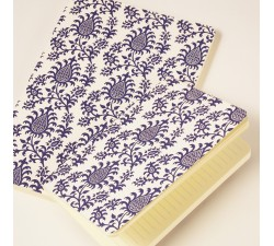 Letterpress Notebook Softcover Pineapples - NB L03F  (Large)