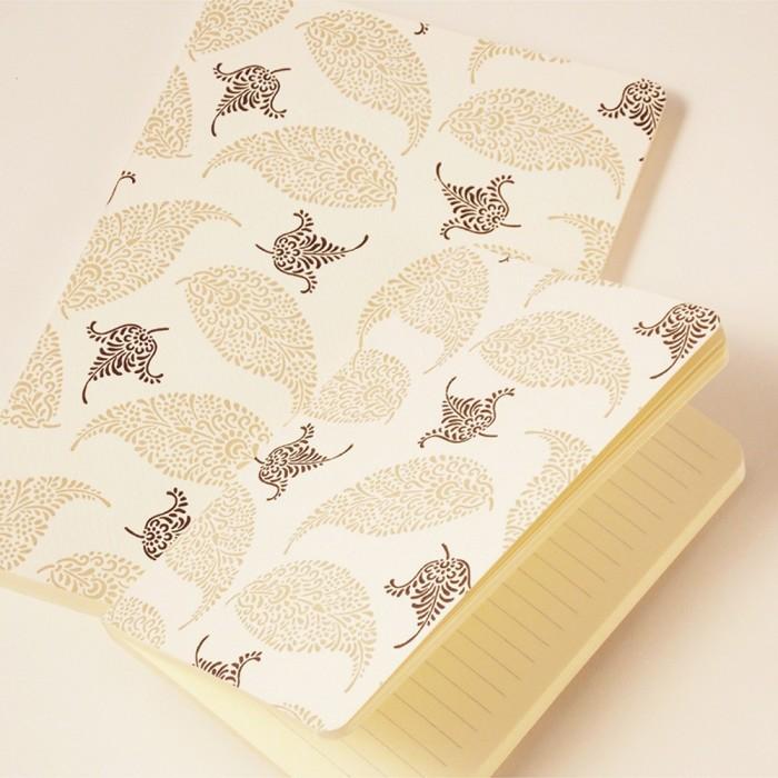 Letterpress Notebook Palm leaves - NB L09G (Medium)