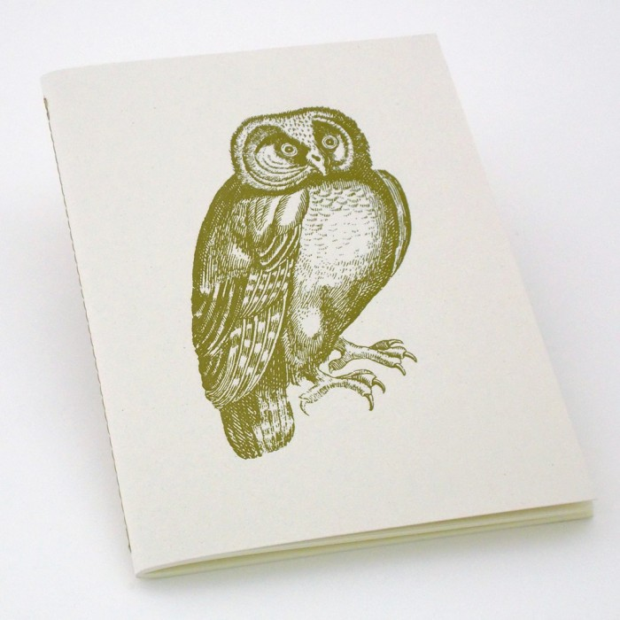 """Notebook Eco-friendly """"citrus fruits"""" Italian Paper Owl Exclusive Vintage Illustration - NB S01A"""