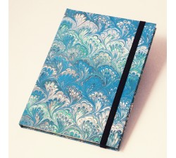 Notebook Hardcover A5 Marble Blue Peacock - NB M01B