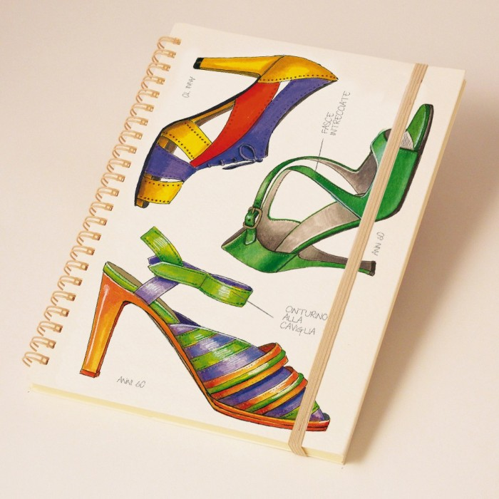 Notebook A5 wirebound Fashion Shoes - NB 005C