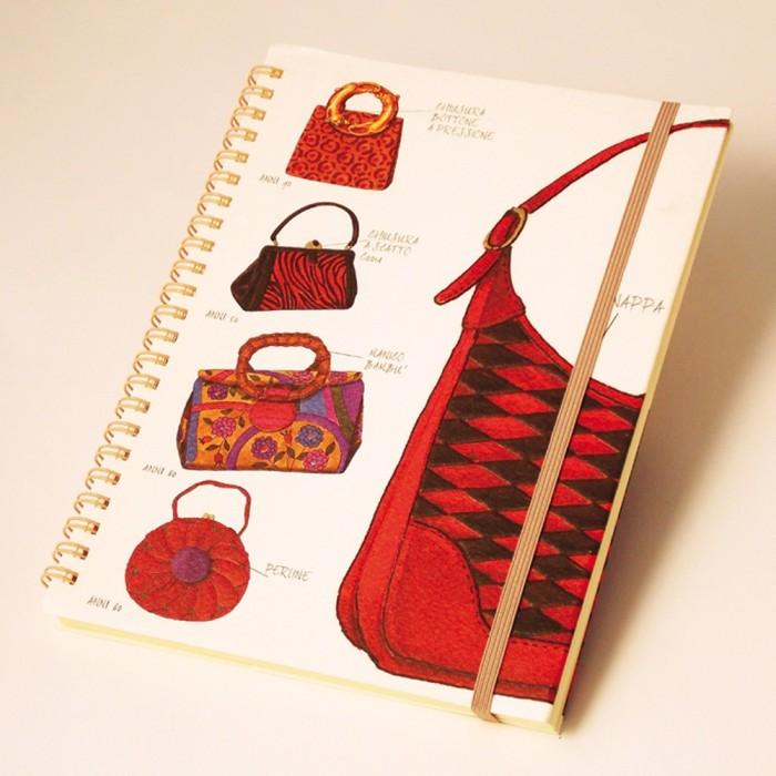 Notebook wirebound A5 Fashion Handbags - NB 006C
