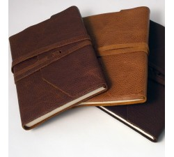 Leather Notebook Dark Brown - 463 DB