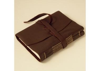 Leather Notebook Stitches Dark Brown - 853 DB