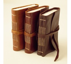 Leather Notebook Stitches Dark Brown - 853 DB