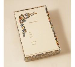 Flat Invitation Cards Lined Envelopes Birds - FZB 007