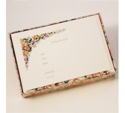 Flat Invitation Cards Lined Envelopes Traditional - FZN 007
