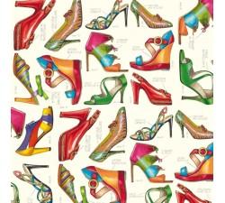Decorative Paper Fashion Shoes - CRT 085