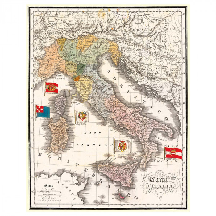 "Decorative Paper Vintage Image ""Italia"" - CR 001"