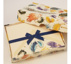 Folded Cards and Lined Envelopes Feathers - BSC 069