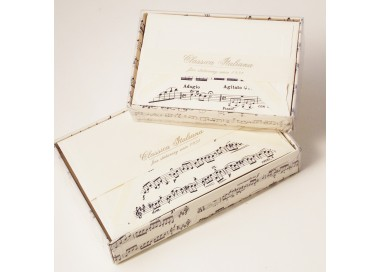 Flat Cards and Lined Envelopes Musical Score Image - BSC 404