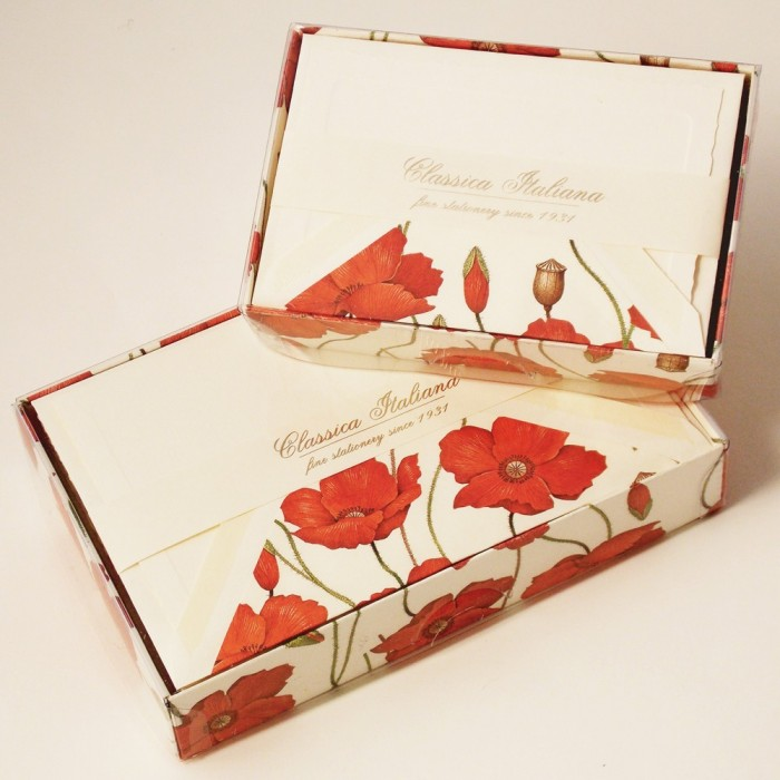 Folded Cards and Lined Envelopes Poppies Image - BSC 415