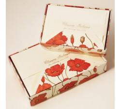 Flat Cards and Lined Envelopes Poppies Image - BSC 416