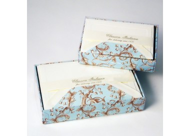 Flat Cards and Lined Envelopes Baroque Flowers - BSC 513
