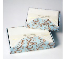 Flat Cards and Lined Envelopes Baroque Flowers - BSC 514