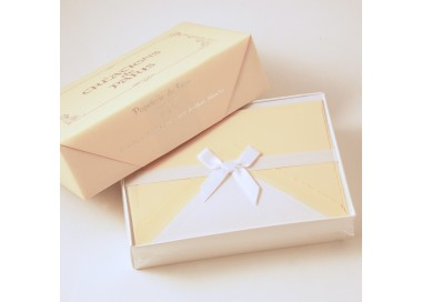 Flat Deckled Edge Cards and Lined Envelopes Cream - CDP 001